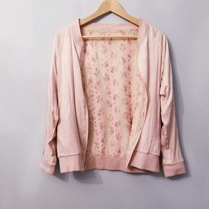 Jackets & Blazers - Silky Solid/ Floral reversable bomber Jacket S